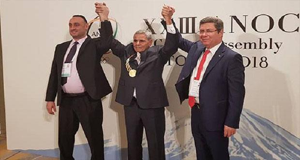 تكريم البطل الاولمبي محمد القمودي في طوكيو