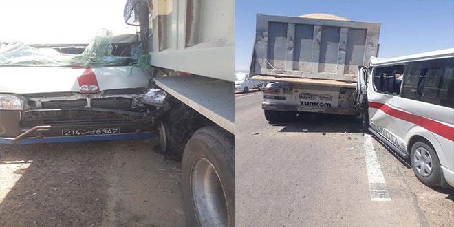 تفاصيل حادث المرور على مستوى منطقة البحاير