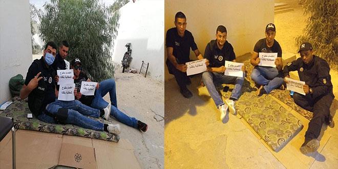 دخول أعوان الأمن التابعين لدائرة الأمن بدوز في اعتصام مفتوح و اضراب جوع …