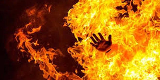 قبلي: امرأة تضرم النار في جسدها