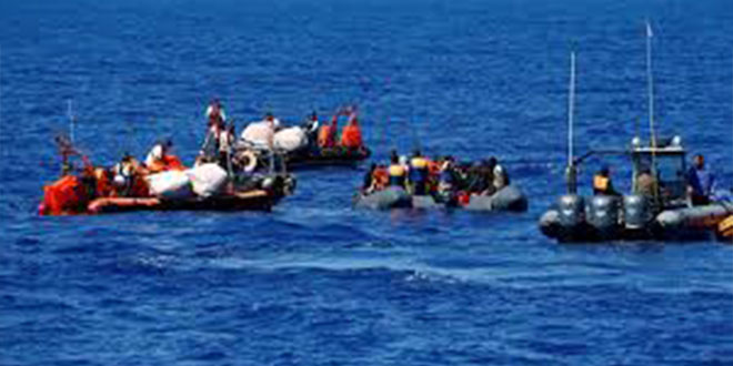 إنقاذ 28 مهاجرا غير شرعي بعرض سواحل قرقنة